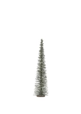 """15.75""""H Bottle Brush Tree Green with Glitter"""