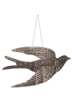 Bird Milagro Ornament Champagne