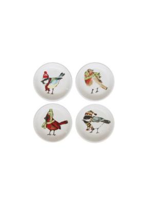 Stoneware Dish with Bird Image