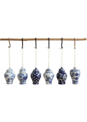 Assorted Ginger Jar Ornament Blue & White