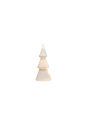 """10.5"""" Glass Tree with Pearl White Finish"""