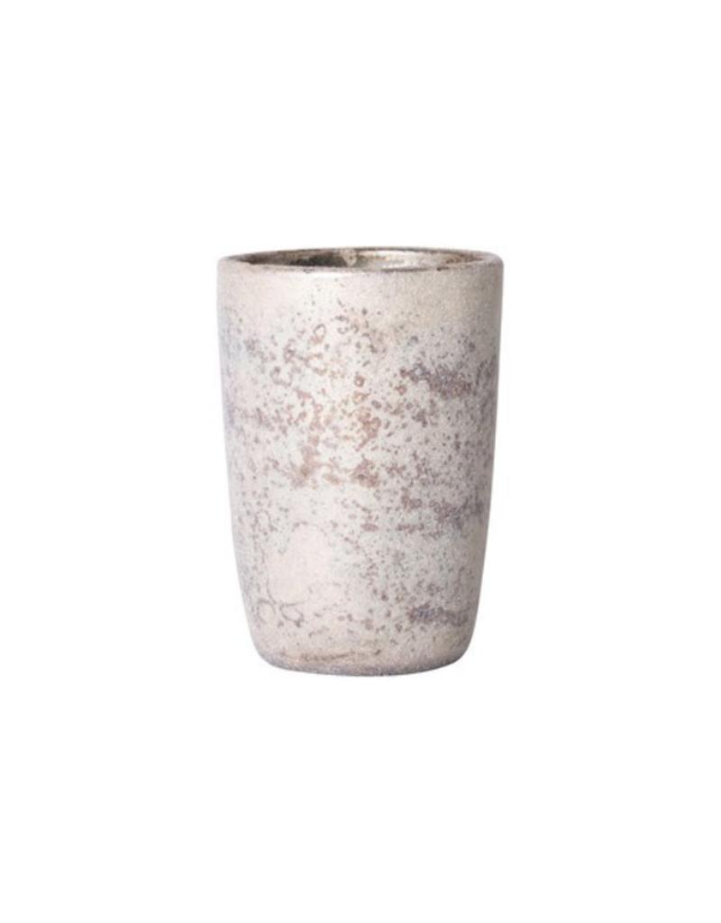 Mercury Glass Votive Holder White & Gold