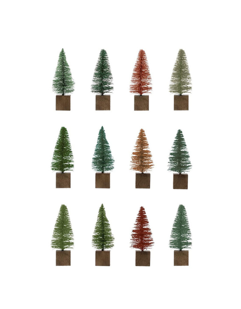 "Set of 12 Multicolour 3"" Bottlebrush Trees"