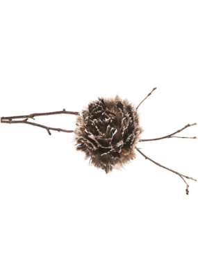 Feather Ball Ornament with Clip