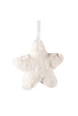 Fluffy Star Ornament in Cream