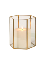 """7"""" Hurricane Candle Holder in Gold"""