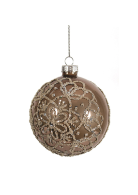 Brown Ornament with Silver Beads