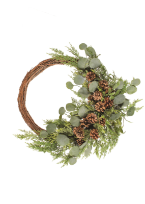 """16"""" Green Leaf Wreath"""