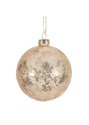 Frosted Pink Ornament with Glitter Camo