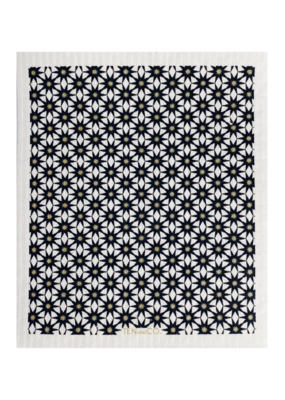 Ten & Co. Swedish Sponge Cloth Starburst Gold & Black
