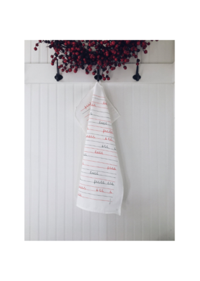 Ten & Co. Ten & Co. Teatowel Falala Red & Green