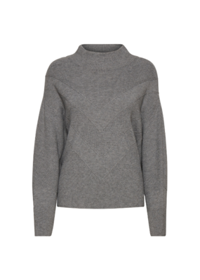 b.young Milo Sweater in Mid-Grey Melange by b.young