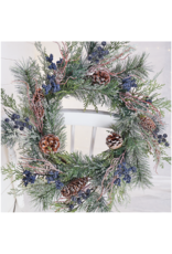 stargazer originals Blue Cone Holiday Wreath