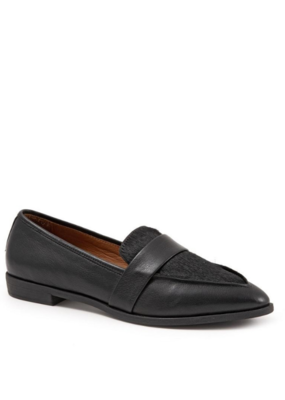 Bueno Barnes Flat in Black Leather & Pony by bueno
