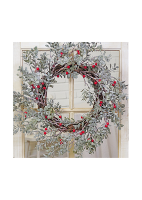 stargazer originals Red Berry Wreath with Leaves