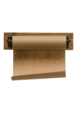 Wood and Metal Paper Roll Holder