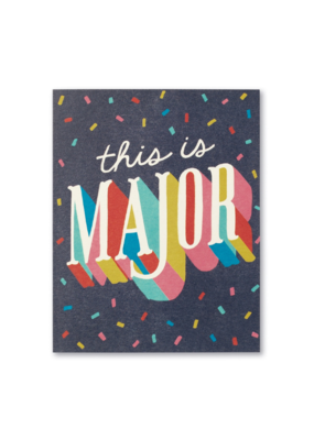 This Is Major - Congratulations Card