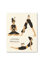 A Birthday Meditation - Birthday Card