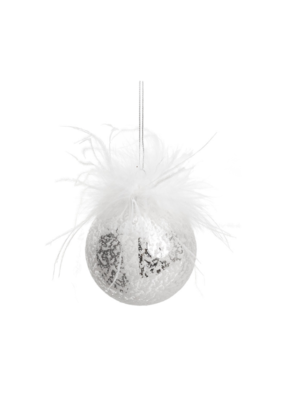 Sparkling Glass Feather Ornament