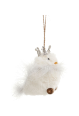 """4"""" Bird with Crown Ornament"""