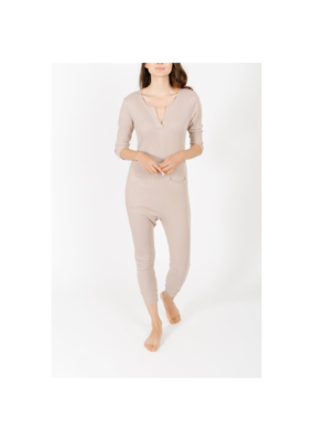 Smash + Tess Coffee Time Waffle Romper in Fawn by Smash + Tess