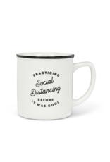 """Practicing Distancing"" Mug"