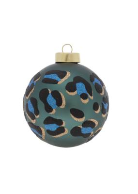 kat + annie Green Leopard Print Ornament by kat+annie