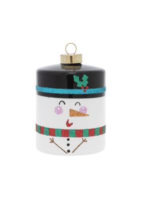 kat + annie Snowman Cylinder Ornament by kat + annie