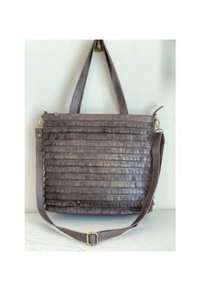 Eyelashes Tote Bag Grey by MILO