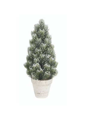 Large Snowy Spruce Tabletop Tree