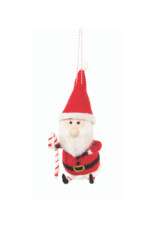 Santa with Candy Cane Ornament