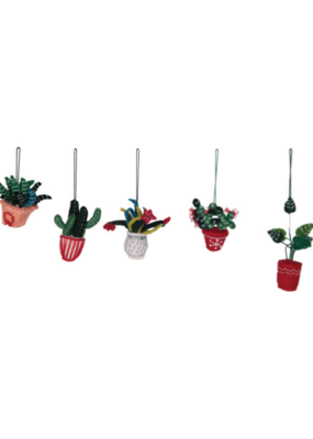 Wool Felt Cactus Ornament in 5 Assorted Styles