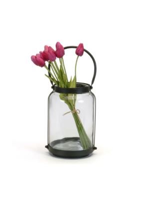 Round Lantern with Handle - Medium