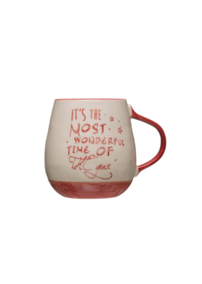 """The Most Wonderful Time"" Stoneware Mug"