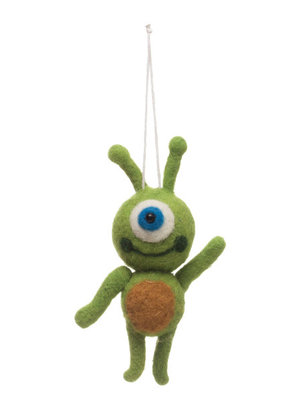 Wool Felt Alien Ornament
