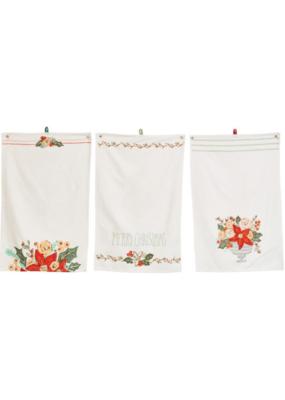 Poinsetta Cotton Slub Tea Towel
