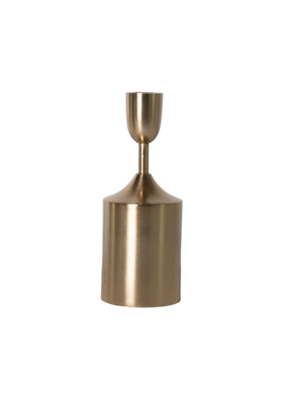 "7.5"" Taper Candle Holder Brass"