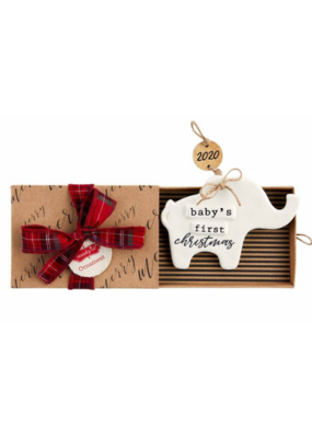 Baby's First Christmas Elephant Ornament