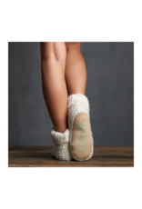 Cuffed Cable Cute Bootie Ivory by Lemon Loungewear