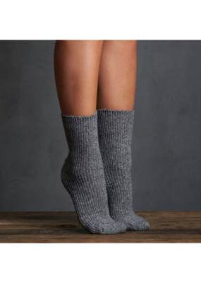 Snow Cap Crew Sock Med Grey by Lemon Loungewear