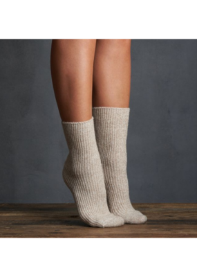 Snow Cap Crew Sock Taupe by Lemon Loungewear