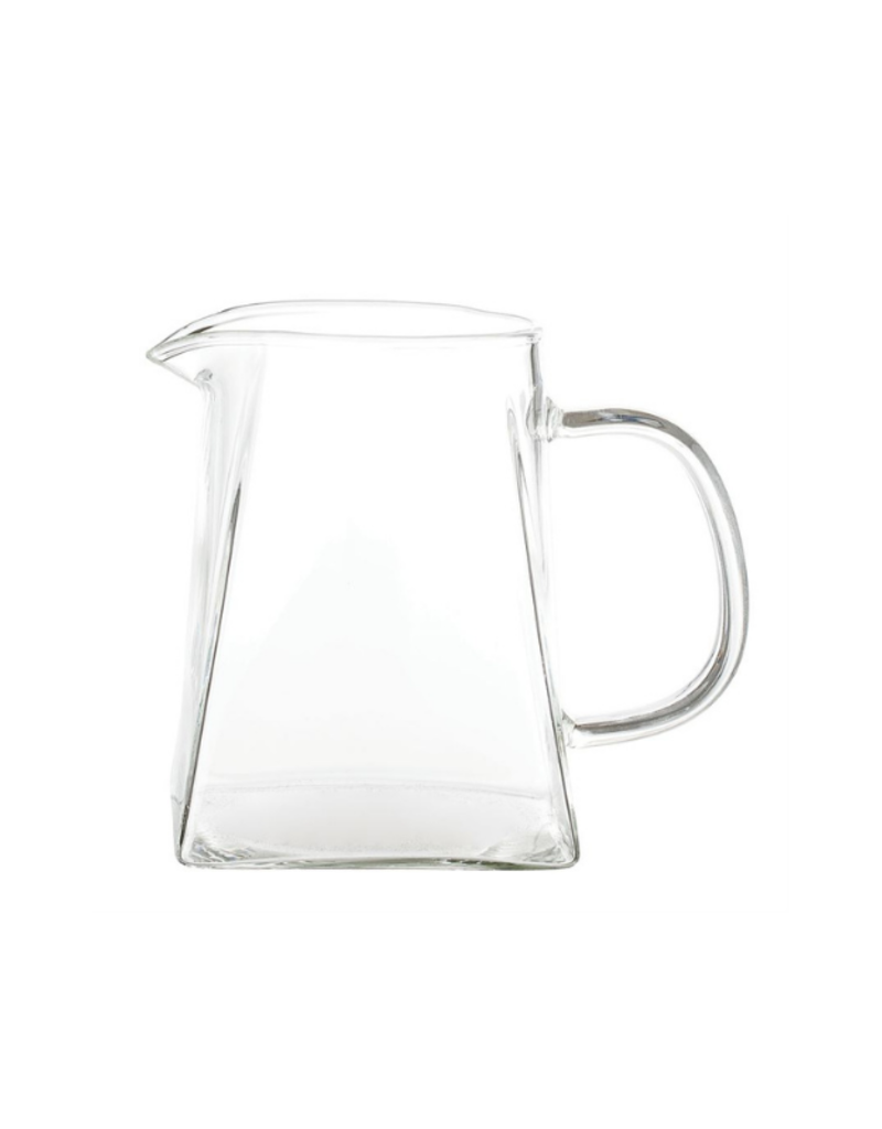 Bloomingville Glass Pitcher with Square Base