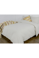 alamode Coxen Linen Cotton Duvet Set in Sand