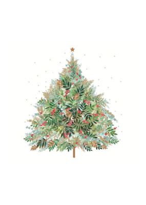 Christmas Hill Tree Napkin