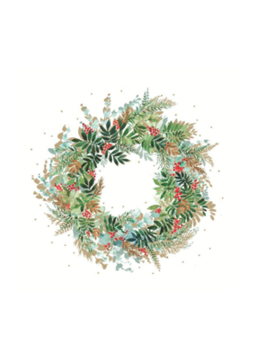 Christmas Hill Wreath Napkin