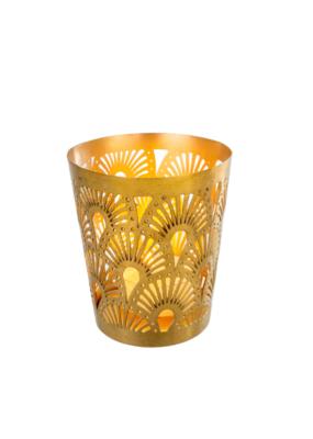 Indaba Trading Plume Tealight in Matte Brass