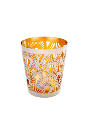 Indaba Trading Plume Tealight in Off White
