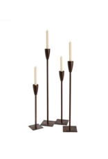 El Grande Candlestick with Leather Finish