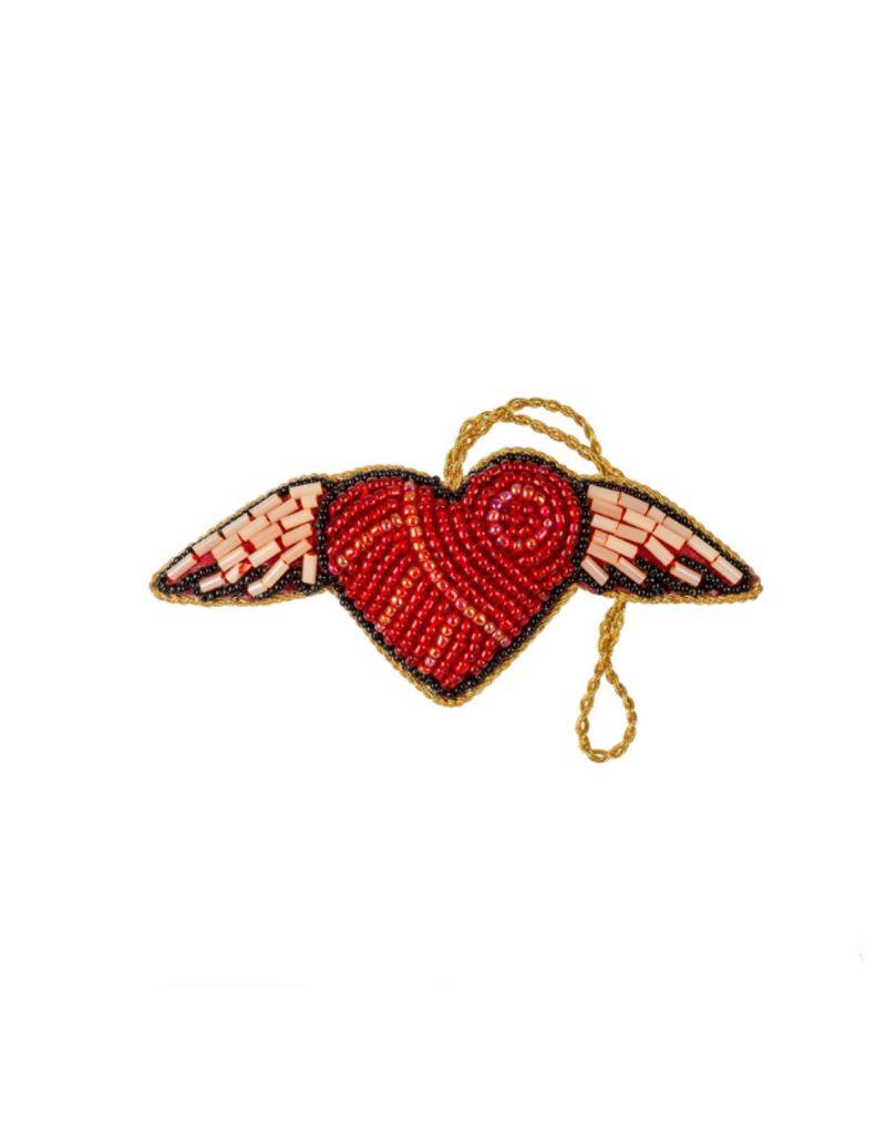 Winged Heart Plush Ornament