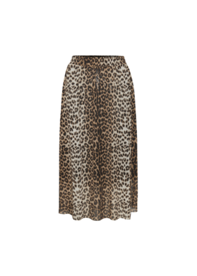 Soaked in Luxury Easton Skirt in Pecan Brown Leopard by Soaked in Luxury